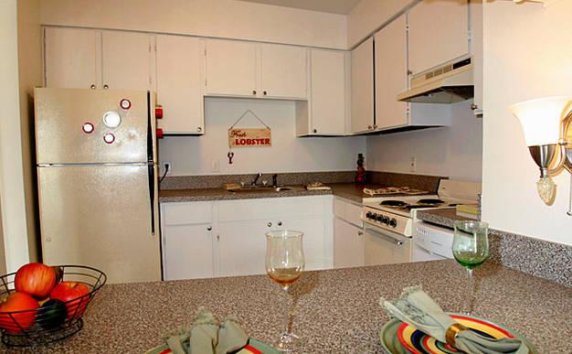 Intimate kitchen space in a Tivoli Apartment