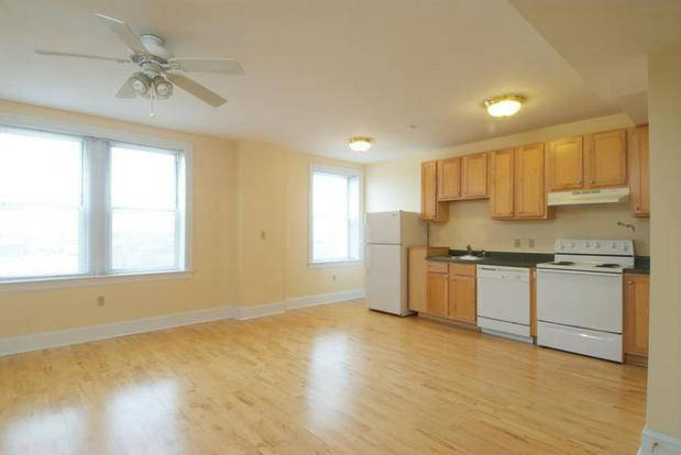 Large Lindell Strip kitchen with modern appliances and hardwood floors