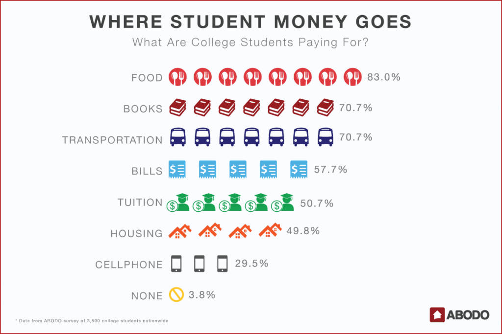 What are college students paying for?