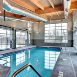 The building also has an indoor pool