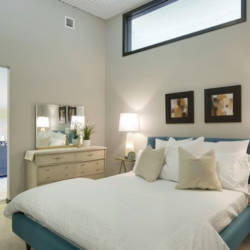 Even the bedrooms have tall ceilings and plenty of natural light